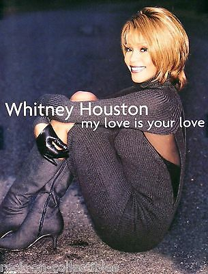 Whitney Houston 1998 My Love Is Your Love Original Promo Poster