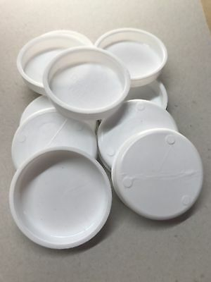 "1000x   Plastic spare End Caps  CHEAP!  Postal Tube Spare White  2"" inch  51 mm"