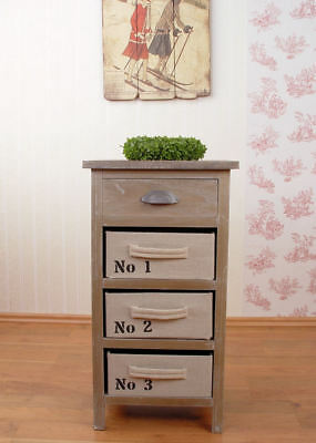 Nostalgic Dresser in Country House Style Linen Drawers Shabby Chic