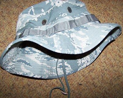Boonie Hat, Airforce Abu Digital Tiger Camo Sun Hat, Large, U.s. Issue *nice*
