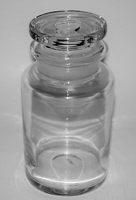 Antique Hand Blown Clear Glass Apothecary Jar w/ Pontil & Hand Ground Top