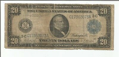 1914 Large $20 Federal Reserve Note