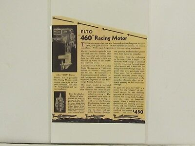 1930s- ELTO 460 RACING MOTOR - OUTBOARD MOTOR - REPRODUCTION SALES BROCHURE nice