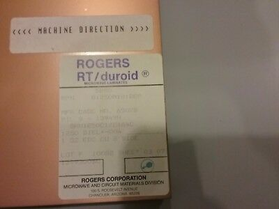 15 sheets, Rogers H.Frequency Laminates RT/duroid   1 oz. Double sided