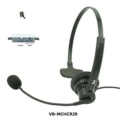 FortiFone phone headset, Noise Canceling Rotatable Microphone, Volume, Mute