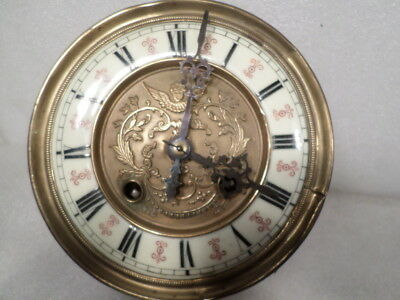 1890 Gustav Becker 8 Day Striking Clock Complete Movement With Mounting Bracket