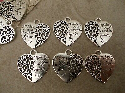 6 x Mother and Daughter Charms Pendants,Silver Tibetan Charms,Jewellery Making