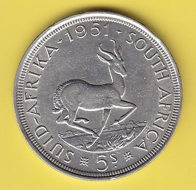 South Africa  5 Shillings  1951  KM 40.2  XF