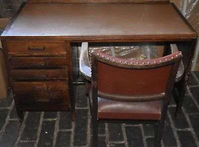 Antique 19th Century, original utility desk with matching chair
