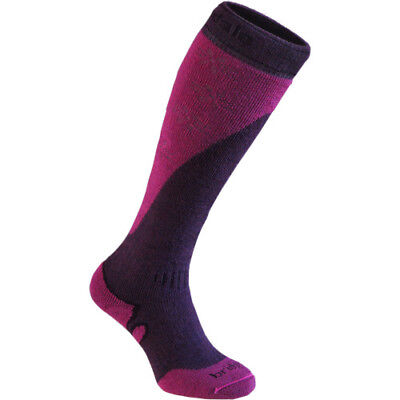 Bridgedale Mountain Womens Underwear Ski Socks - Plum Berry All Sizes