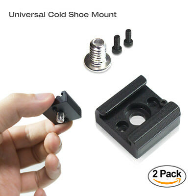 "Cold Shoe Mount Adapter Flash Bracket Aluminum Standard Type 1/4"" Thread Hole"