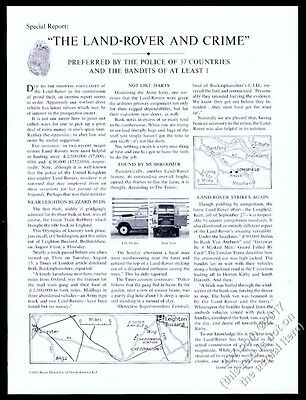 1964 Land Rover SUV photo Preferred By Police of 37 Countries vintage print ad