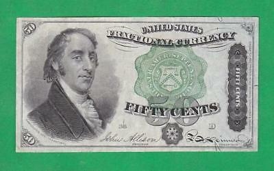 1869-75 50¢ BEAUTIFUL*XF++/AU* SAMUEL DEXTER U.S. Fractional Currency!