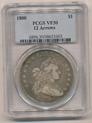 1800 Draped Bust Silver Dollar Pcgs Vf