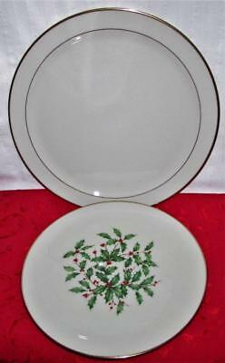 Lenox Presidential Collection Mansfield Serving Platter Charger, Christmas Plate