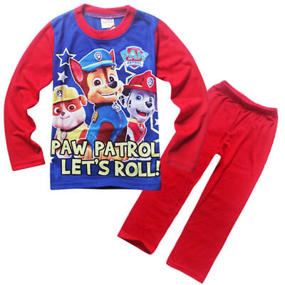BNWT-Boys Paw Patrol 'Lets Roll' Chase,Rubble, Marshall Pyjamas Sleepwear Size 7