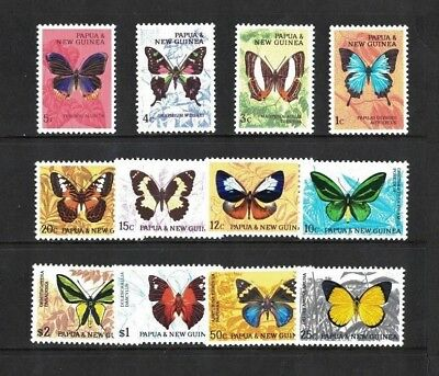1966 Papua New Guinea Butterflies set 12 SG 82/92 muh