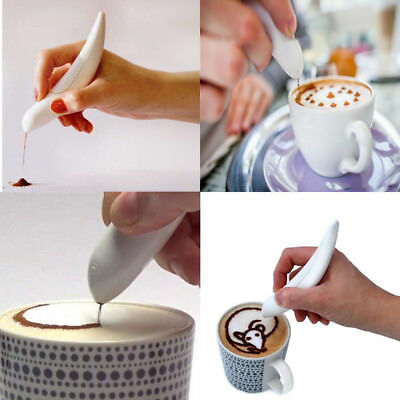 Electrical Latte Art Pen for Coffee Cake Spice Pen Coffee Carving Pen Cake Decor