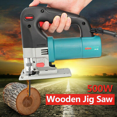 220V 500W Electric Power Jigsaw Contour Wood Timber Cutting Tool Jig Saw Blade