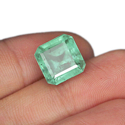 6.85CT 100% Natural Attractive Emerald from Colombia Muzo Collection MQMD1