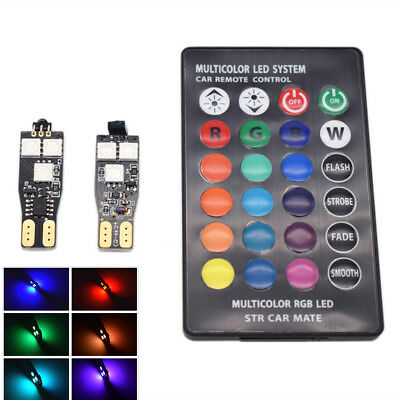 DC12V 6LED 6SMD RGB Car Reading Light Dome Lamp Indicator Width Lamps Remote Kit