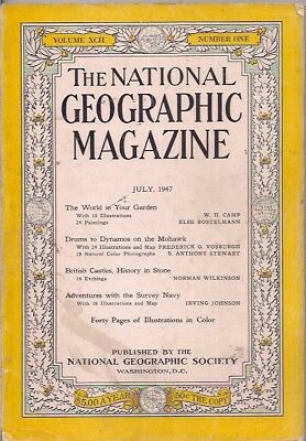 national geographic-JULY 1947-BRITISH CASTLES,HISTORY IN STONE.