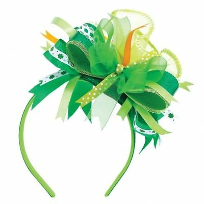 Party Fancy Dress St Patricks Day Lady Green Feathers Fascinator Headband 393292