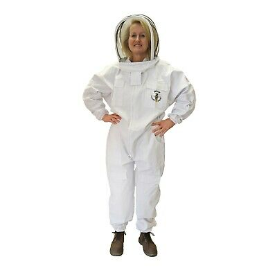 [UK] Buzz Work Wear Beekeeping White Fencing Veil Suit & Gloves- SELECT SIZE