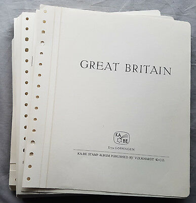 Kabe Great Britain United Kingdom Pre-printed Sheets 1990-1998 with