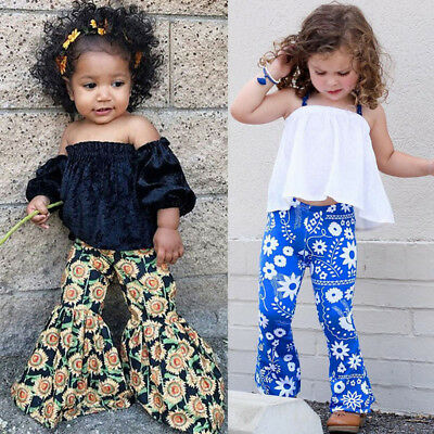 Infant Baby Girls Shirt Blouse Tops+Sunflower Casual Loose Long Pants Clothes