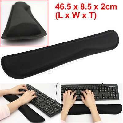 PC Keyboard Hands Rest Gel Wrist Raised Support Cushion Pad Home Office