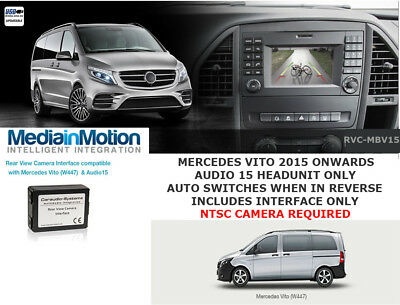Mercedes Vito 2015 Onwards Rear Camera Input Only For Audio 15 Unit