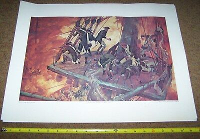 Usmc Art Collection Picture Poster, Colonial Marines *nice* #3