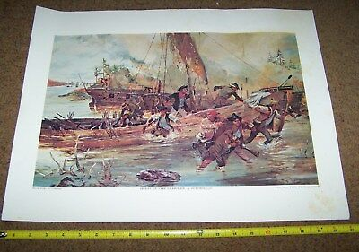 Usmc Art Collection Picture Poster, Colonial Marines *nice* #6