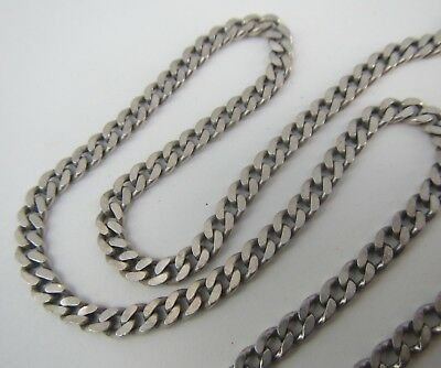 "Vintage Sterling Silver 925 Long Curb Chain - 28 1/8"" Long - Hallmarked 1990"