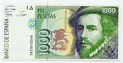 Spain 1000 Pesetas 1992 issue Pick 163 lotmar7022
