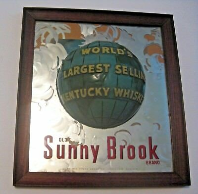 Unique Vintage Sunny Brook Whisky Whiskey Advertising Mirror Sign ~ L@@k ~