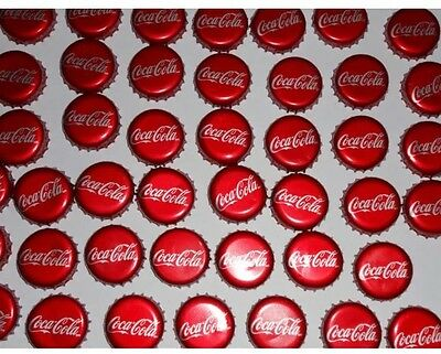 Coca-Cola Bottle Caps--Lot of 50--Used Plastic-lined