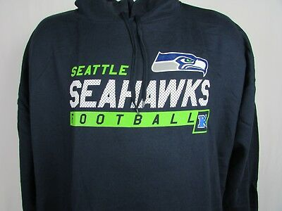 975a73141 Seattle Seahawks Men Big   Tall Majestic Pullover Hoodie Navy Blue NFL 6XL