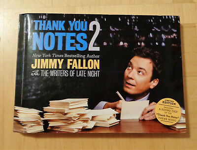Thank You Notes By Jimmy Fallon Hand Signed Book 1St Edition
