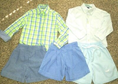 4T Boy Easter Summer Spring Outfits! Lot of 5! Stasburg boutique shirts shorts