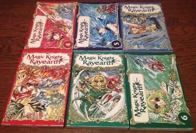 Lot mangas Magic Knight Rayearth tomes 1 à 6 Intégrale .Superbe état sous jaquet