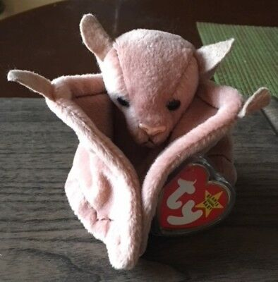Ty Beanie Baby-Rare Batty The Bat Born October 29, 1996 Smoke Free With All Tags