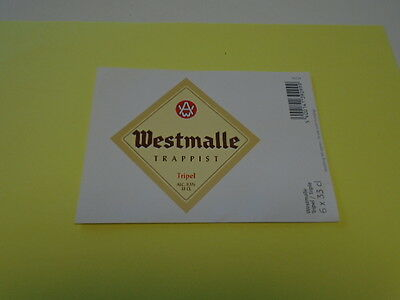 Westmalle Trappistes ( Triple ) Etiquette Grand Format  Recto - Verso
