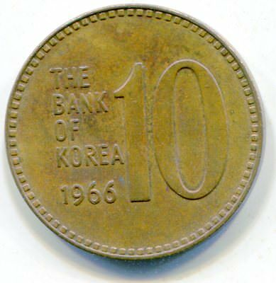 Korea, South 10 Won 1966 HG coin scarce   lotmar251