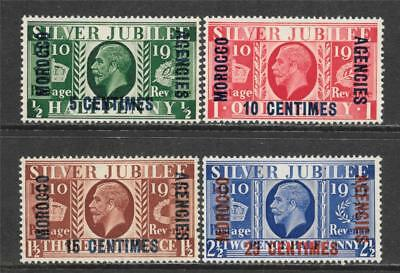 British Morocco 1935 Silver Jubilee Issue Overprint Sc # 67-70 Mlvh