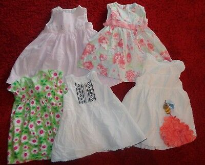 Lot Of 5 Baby Girl Summer Dresses Carters John Lewis Easter Size 12-18 Months