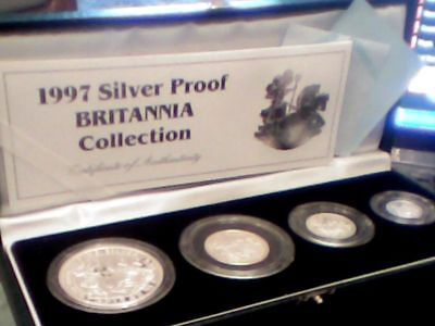 1997 UK BRITANNIA SILVER PROOF COLLECTION ROYAL MINT Boxed/ certificate