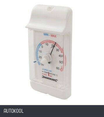 Silverline Min/Max Dial Thermometer -30° to +60°C