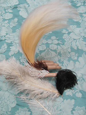 LOT *Edwardian-Victorian MILLINERY FEATHERS *Gorgeous BIRD OF PARADISE? PLUME NR